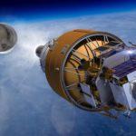 Lądownik Boeinga wynoszony w kosmos przez rakietę SLS, źródło: Boeing